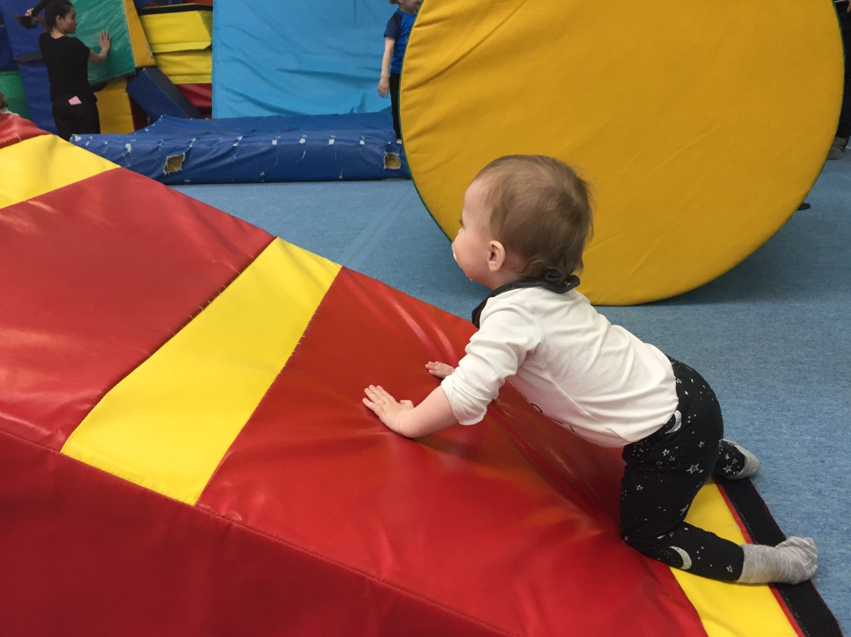 Spend a morning tumbling with your tot at Parent & Toddler Gymnastics
