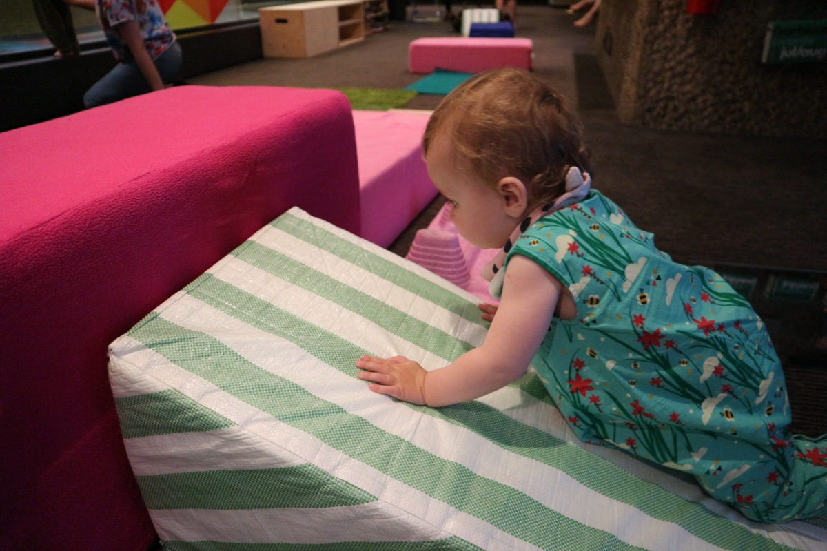 Experiment with materials and create tactile play landscapes at Barbican Blocks