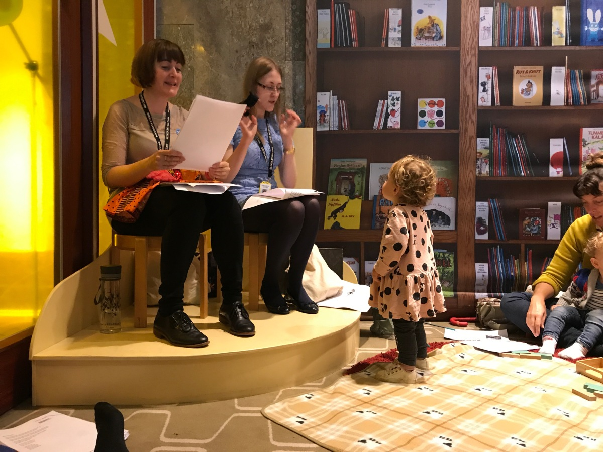 Sing along to old favourites at the Southbank Centre's Rug Rhymes session