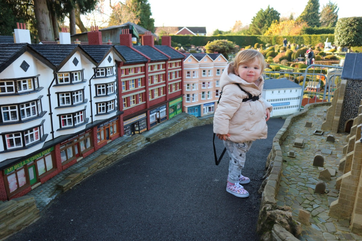 Pretend your toddler is a giant at Bekonscot Model Village & Railway