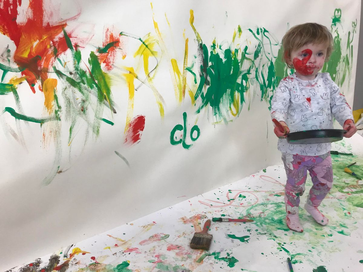 Get plastered in paint and showered in flour at A Fine Mess messy play sessions