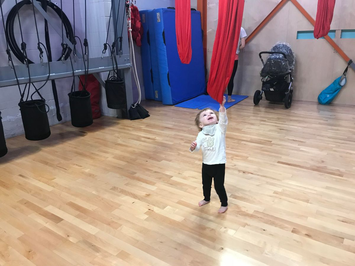 Learn circus skills with your tiny at Flying Fantastic's Mum and Baby Aerial
