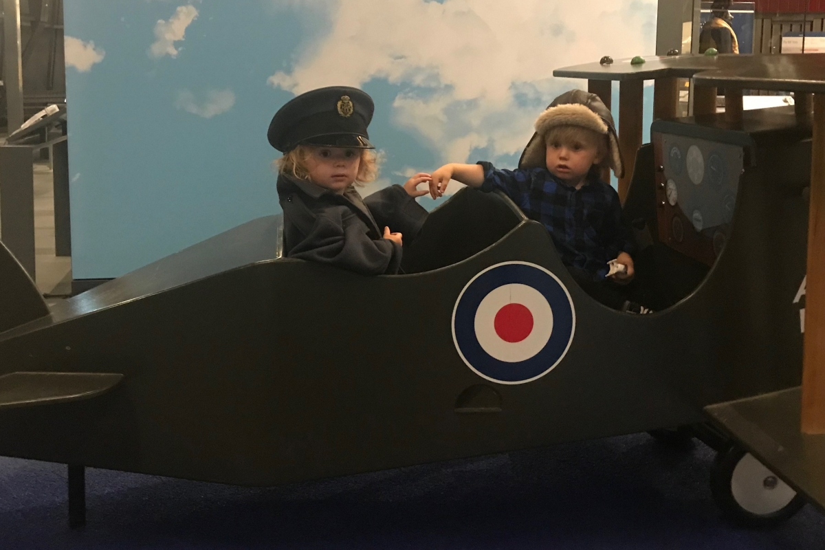 Discover one of the best playgrounds in London at the Royal Air Force Museum