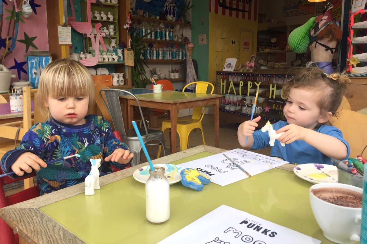 Read, paint, colour and play at Punk Me Up Ceramics' Little Punks drop-in